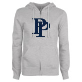 ENZA Ladies Grey Fleece Full Zip Hoodie-PP