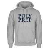Grey Fleece Hoodie-Poly Prep Stacked
