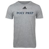 Adidas Sport Grey Logo T Shirt-Poly Prep