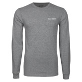 Grey Long Sleeve T Shirt-Poly Prep Country Day School