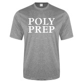 Performance Grey Heather Contender Tee-Poly Prep Stacked