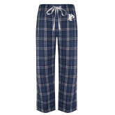 Navy/White Flannel Pajama Pant-PP