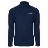 Sport Wick Stretch Navy 1/2 Zip Pullover-Poly Prep