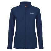 Ladies Fleece Full Zip Navy Jacket-Poly Prep