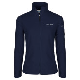 Columbia Ladies Full Zip Navy Fleece Jacket-Poly Prep