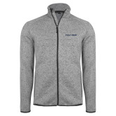 Grey Heather Fleece Jacket-Poly Prep