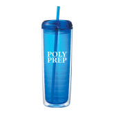 Mega Vortex Blue Double Wall Tumbler 24oz-Poly Prep Stacked