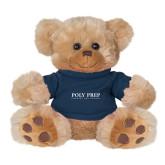 Plush Big Paw 8 1/2 inch Brown Bear w/Navy Shirt-Poly Prep Country Day School