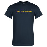 Navy T Shirt-This Is Point University