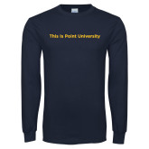 Navy Long Sleeve T Shirt-This Is Point University