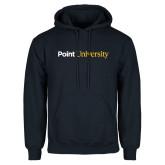 Navy Fleece Hoodie-Point University