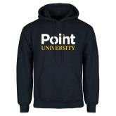 Navy Fleece Hoodie-Point University Vertical
