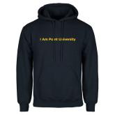 Navy Fleece Hoodie-I Am Point University