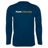Performance Navy Longsleeve Shirt-Point University