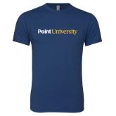 Next Level Vintage Navy Tri Blend Crew-Point University