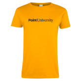 Ladies Gold T Shirt-Point University