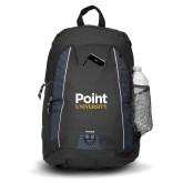 Impulse Black Backpack-Point University Vertical