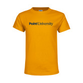 Youth Gold T Shirt-Point University