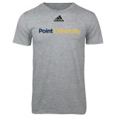 Adidas Sport Grey Logo T Shirt-Point University