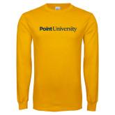 Gold Long Sleeve T Shirt-Point University