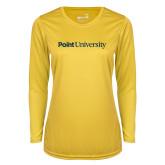 Ladies Syntrel Performance Gold Longsleeve Shirt-Point University