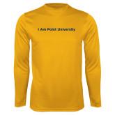 Performance Gold Longsleeve Shirt-I Am Point University