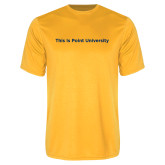 Performance Gold Tee-This Is Point University