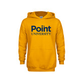 Youth Gold Fleece Hoodie-Point University Vertical