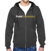 Charcoal Fleece Full Zip Hoodie-Point University