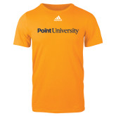 Adidas Gold Logo T Shirt-Point University