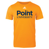 Adidas Gold Logo T Shirt-Point University Vertical