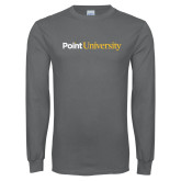 Charcoal Long Sleeve T Shirt-Point University