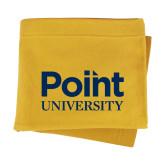 Gold Sweatshirt Blanket-Point University Vertical