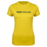 Ladies Syntrel Performance Gold Tee-Point University