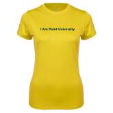 Ladies Syntrel Performance Gold Tee-I Am Point University