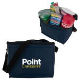 Six Pack Navy Cooler-Point University Vertical