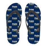 Full Color Flip Flops-Point University Vertical