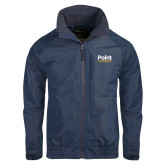 Navy Charger Jacket-Point University Vertical