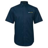Navy Twill Button Down Short Sleeve-Point University
