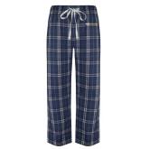 Navy/White Flannel Pajama Pant-Point University