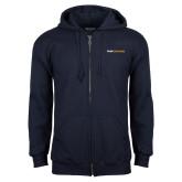 Navy Fleece Full Zip Hoodie-Point University