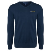 Classic Mens V Neck Navy Sweater-Point University