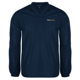 V Neck Navy Raglan Windshirt-Point University