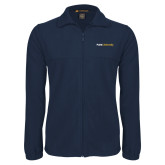 Fleece Full Zip Navy Jacket-Point University