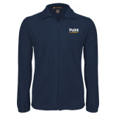 Fleece Full Zip Navy Jacket-Point University Vertical