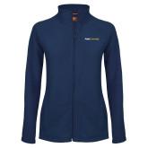 Ladies Fleece Full Zip Navy Jacket-Point University