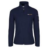 Columbia Ladies Full Zip Navy Fleece Jacket-Point University