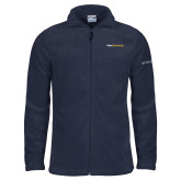 Columbia Full Zip Navy Fleece Jacket-Point University