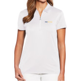 Ladies Callaway Tulip Sleeve White Zip Polo-Point University