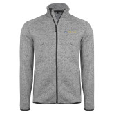 Grey Heather Fleece Jacket-Point University